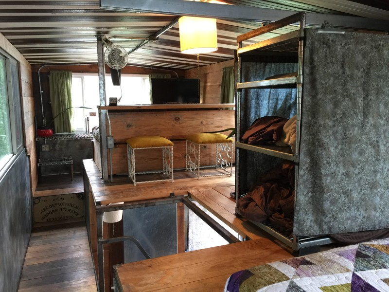 Great shot of the mezzanine in the Firebird tiny house by Eric Bohne