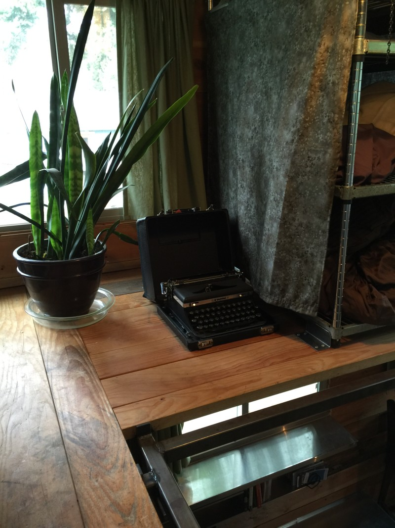 Old data entry machine in the Firebird tiny house by Eric Bohne