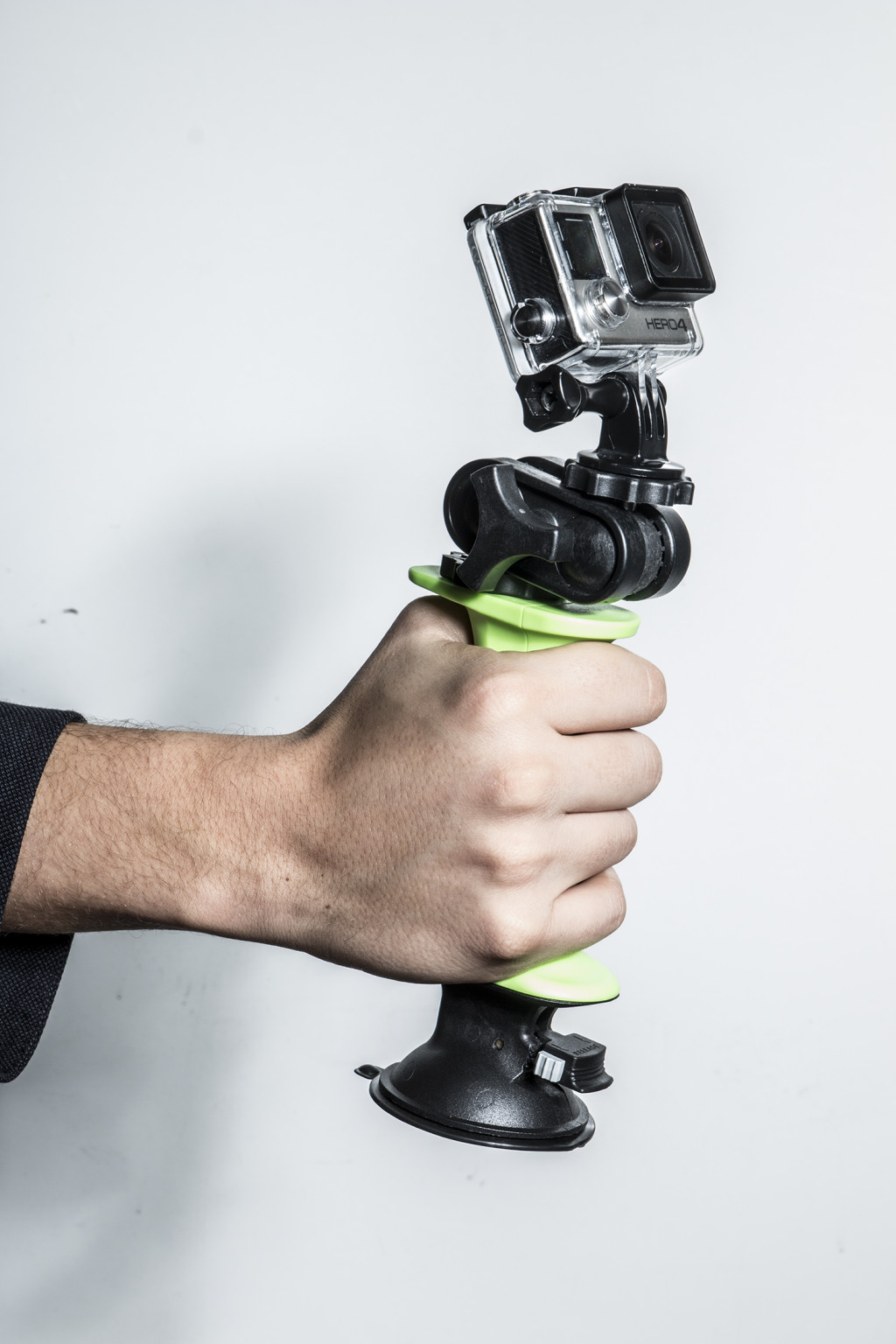 The Gerp has standard tripod mounts to allow it to be paired with all types of cameras and camcorders. Digital cameras of all size fit on the Gerp and can be mounted with the suction cup or handled with the camera grip.