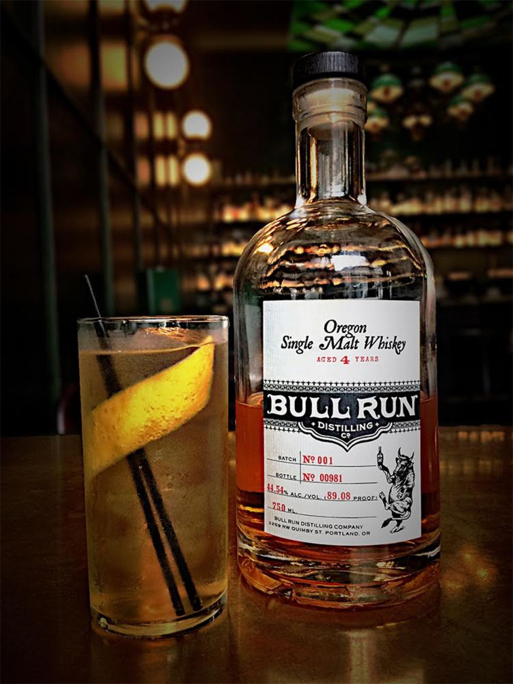 bull run single malt, montenegro amaro, hickory syrup, rosemary, co2