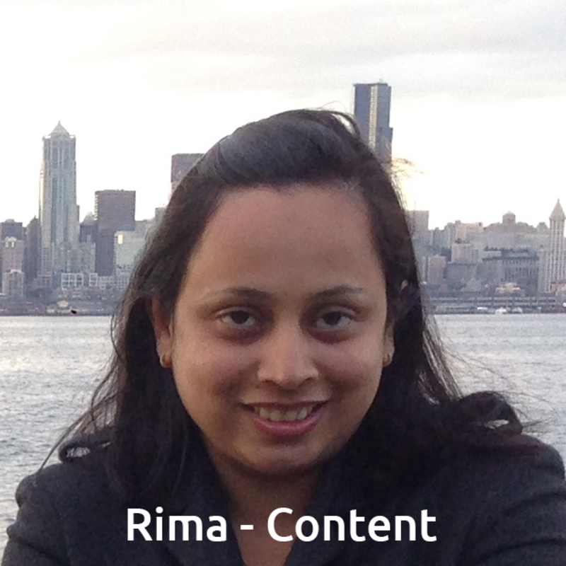 Rima - Develops content for the Learn & Earn App