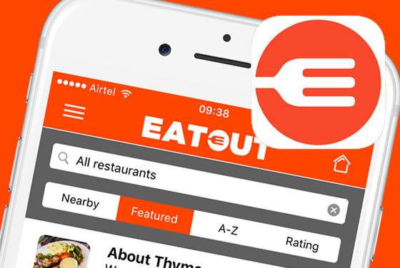 Screenshot of the EatOut iPhone app