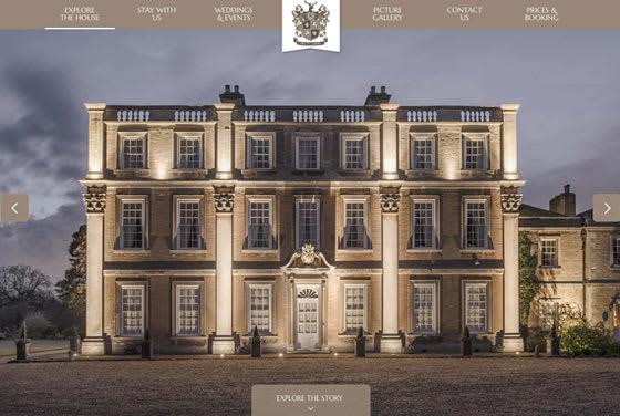 Screenshot of the Hinwick House website