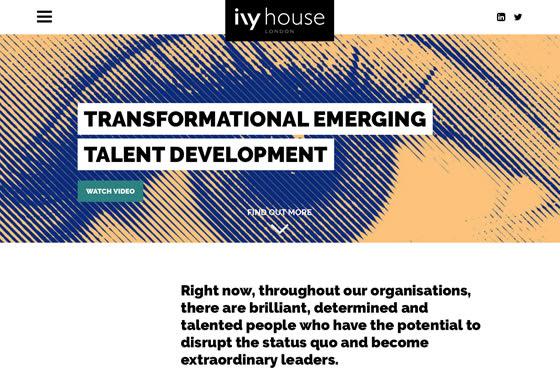 Screenshot of the Ivy House website