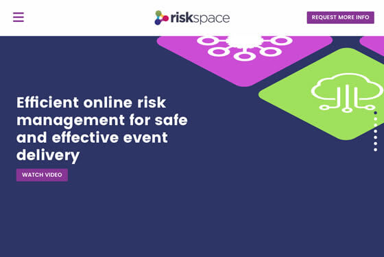 Screenshot of the Riskspace website