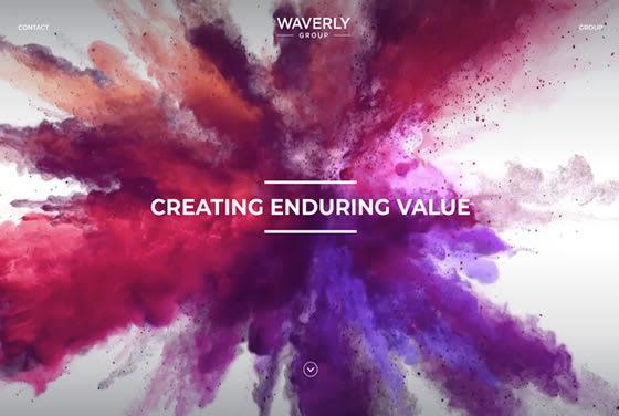 Screenshot of the Waverly Group website