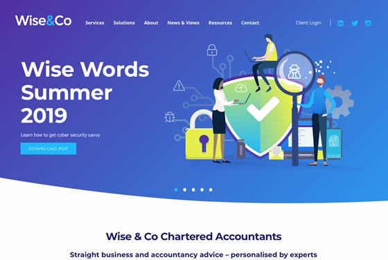 Screenshot of the Wise & Co website