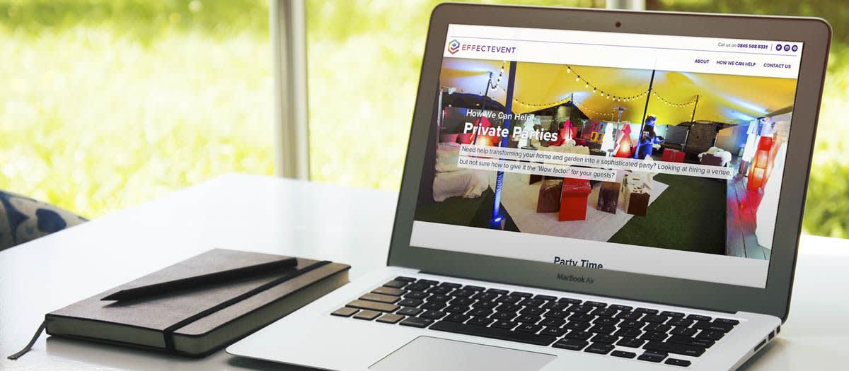 Effectevent Website on Macbook Air