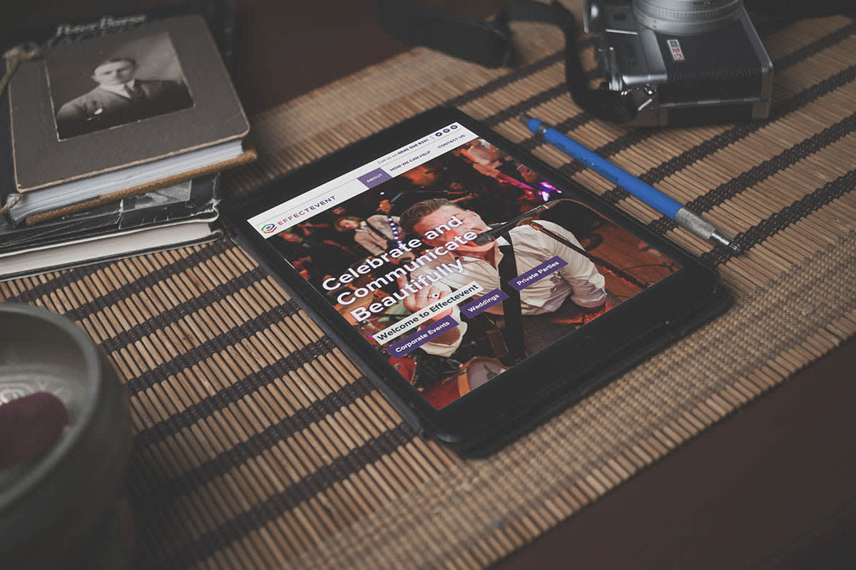 iPad with website