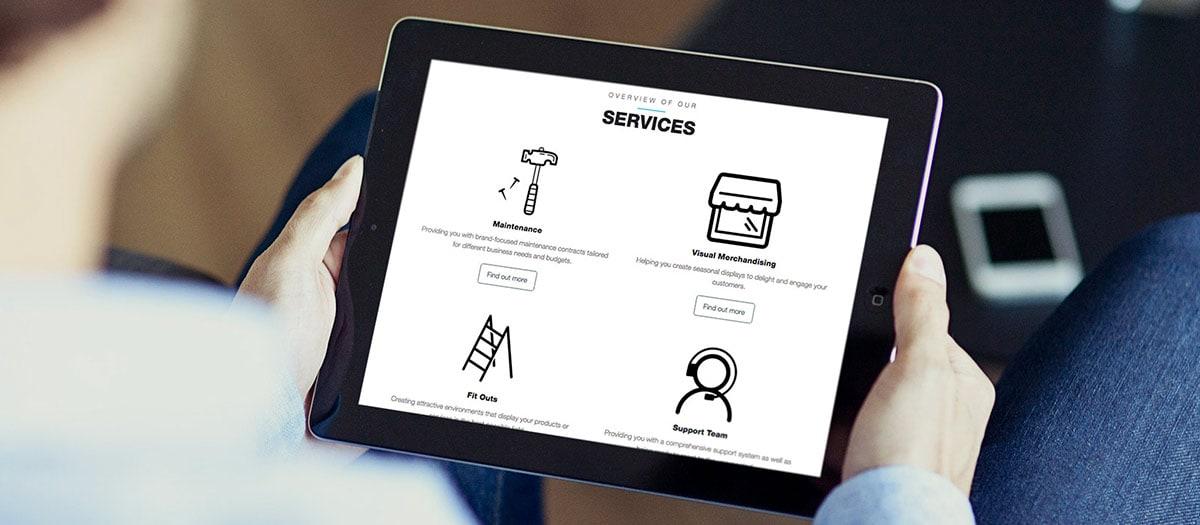 iPad screenshot of Pulse website