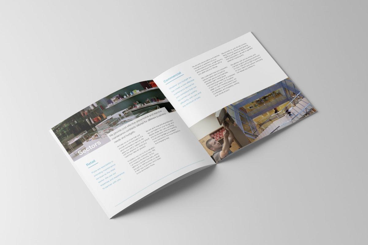 Pulse promo brochure double page spread