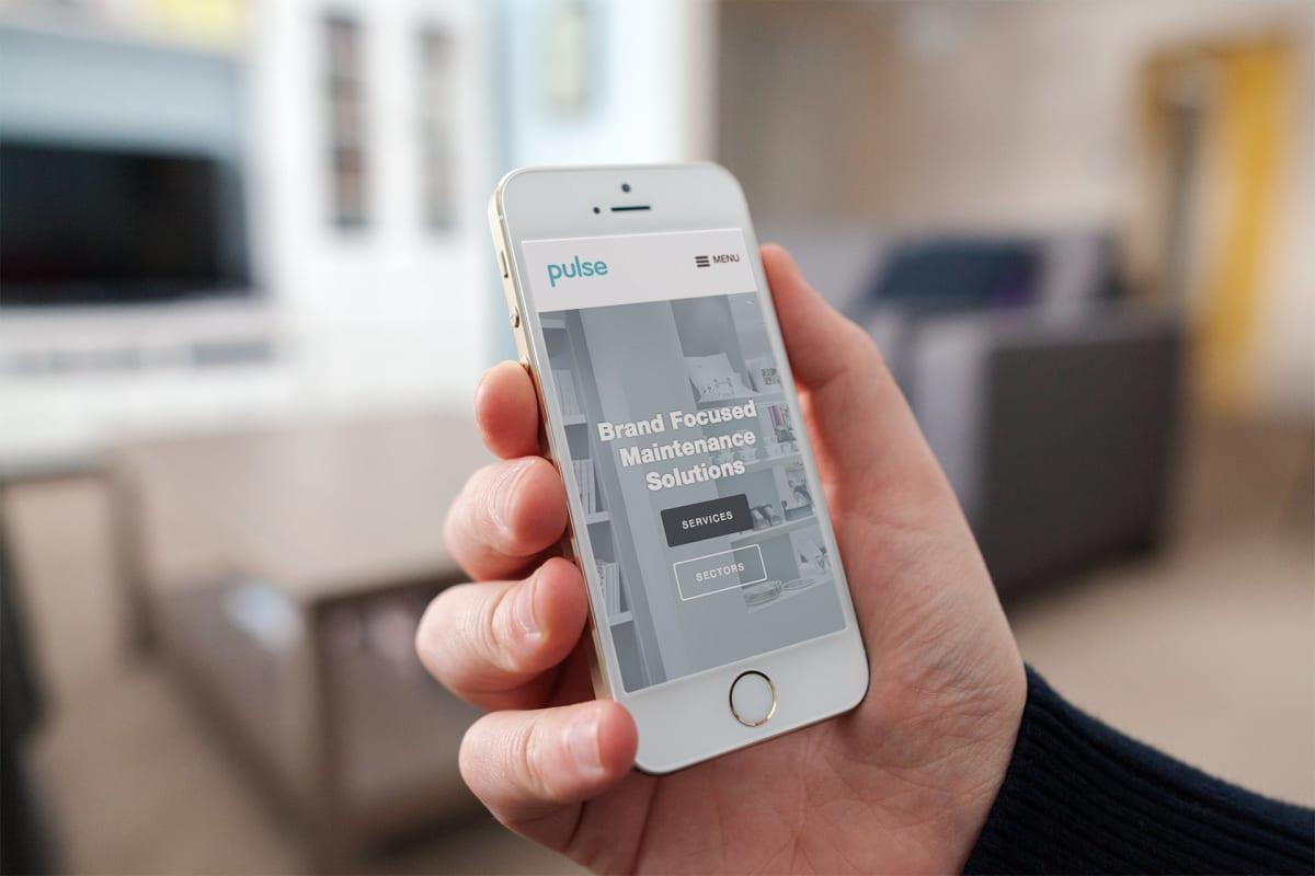 Pulse website on mobile device