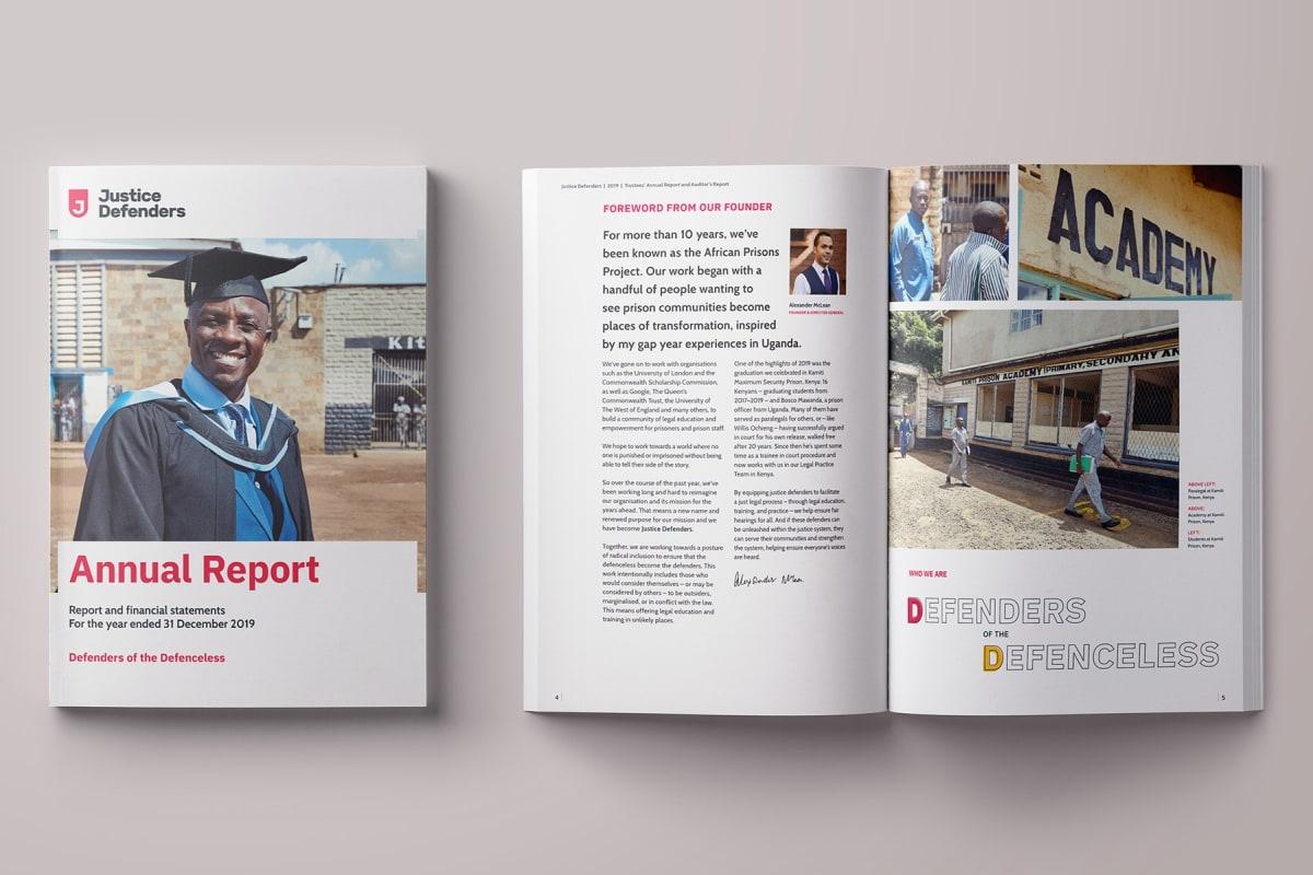 Annual report spread