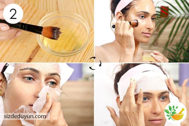 yumurta akı ile yüz maskesi yapmak için