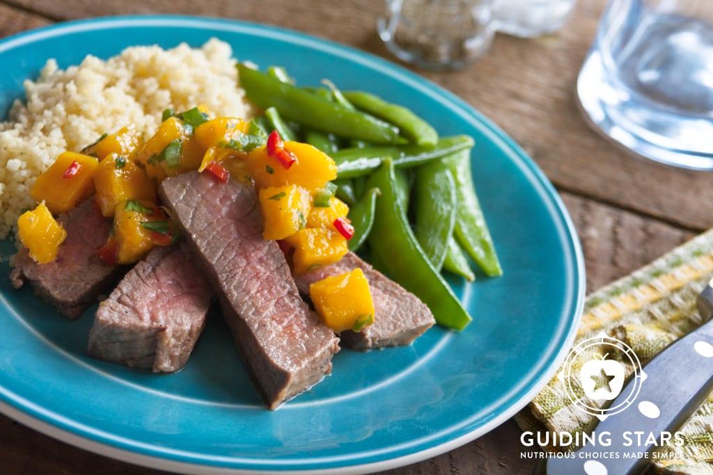 Grilled Steak with Spicy Mango Salsa
