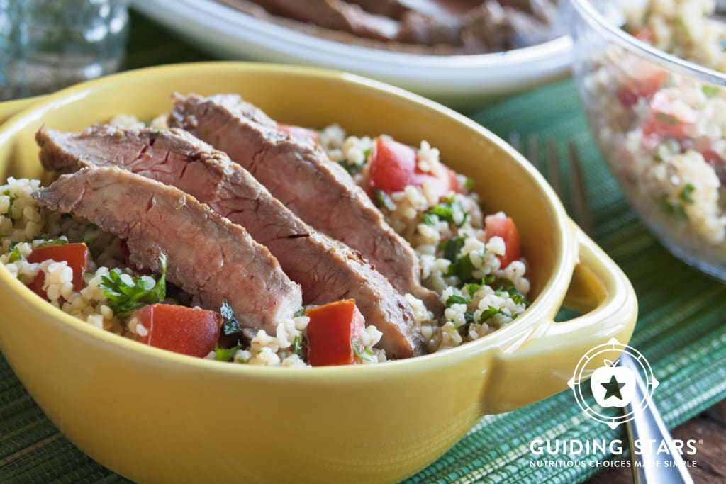 Flank Steak with Cracked Wheat Salad