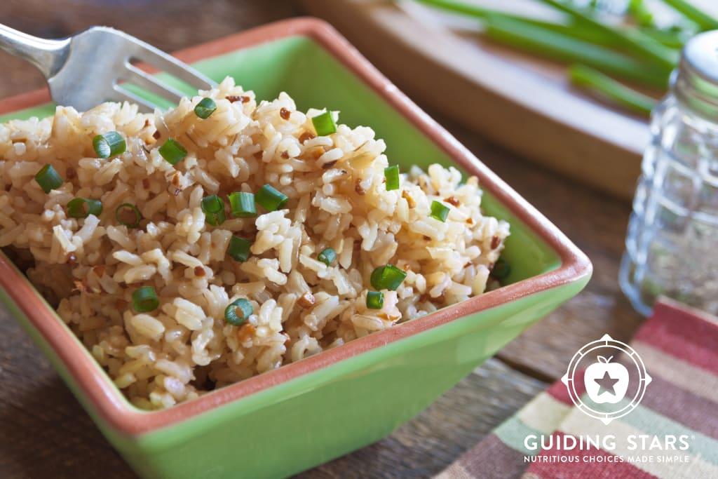 Garlicky Brown Rice
