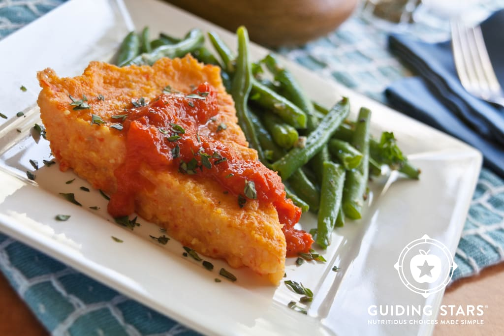 Creamy Polenta with Roasted Red Pepper Coulis
