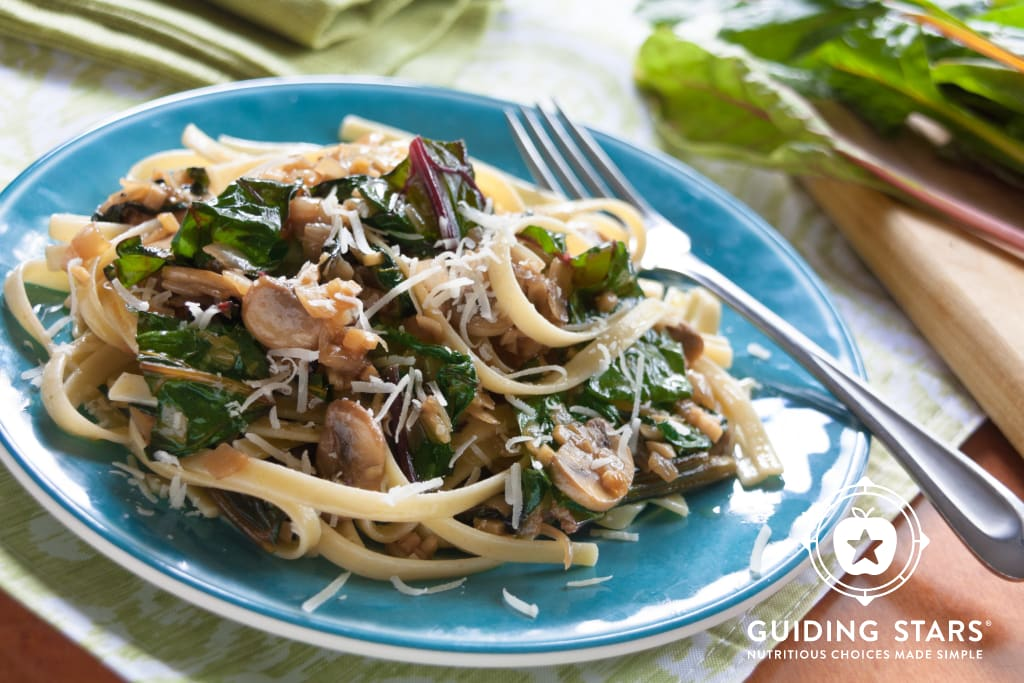 Fettuccine with Swiss Chard and Mushrooms