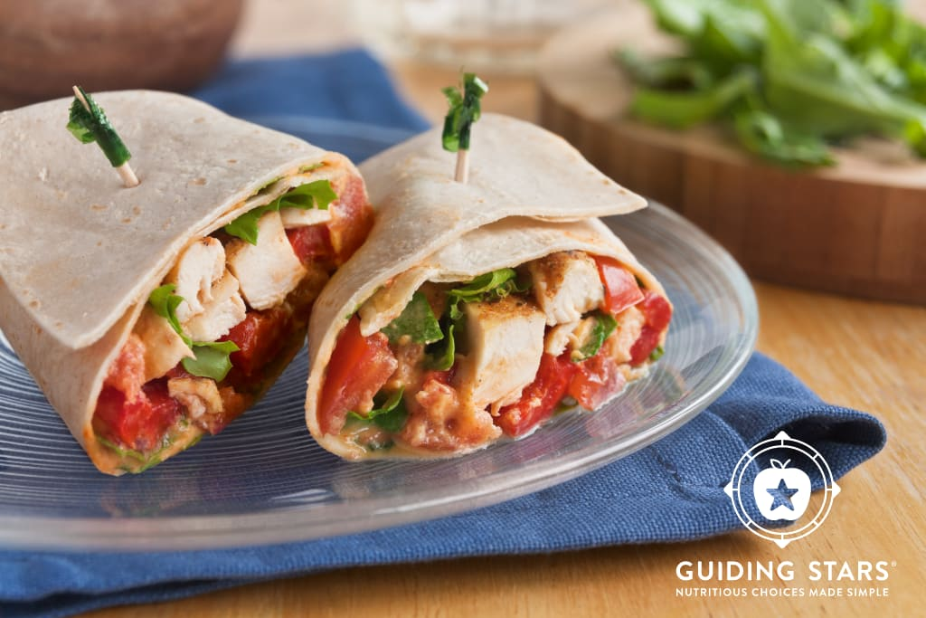 Roasted Red Pepper & Chicken Wrap
