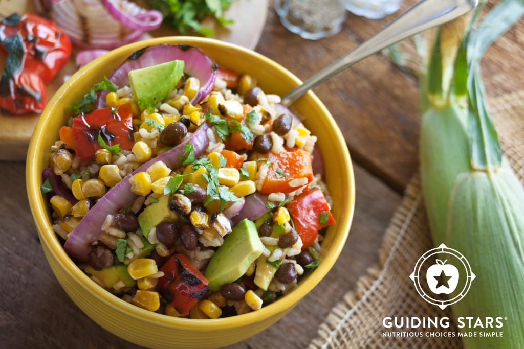 Grilled Corn Salad with Black Beans & Rice