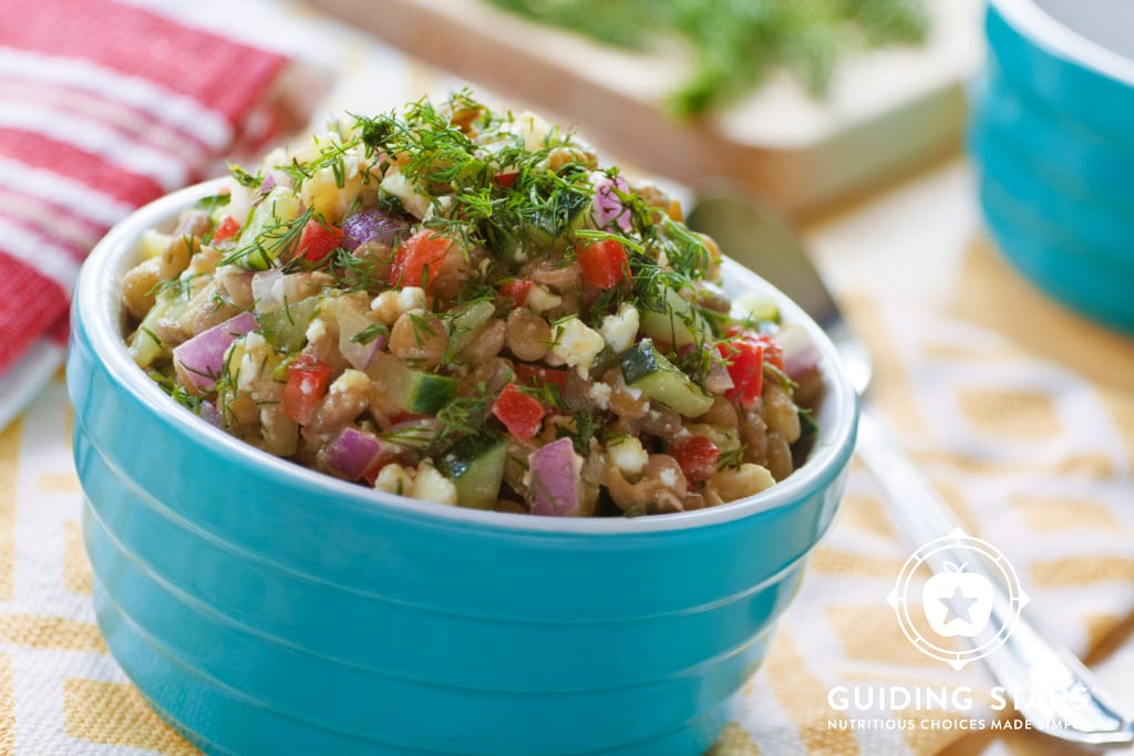 Lemony Lentil Salad with Feta