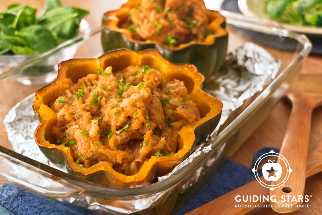 Baked Acorn Squash with Pineapple.