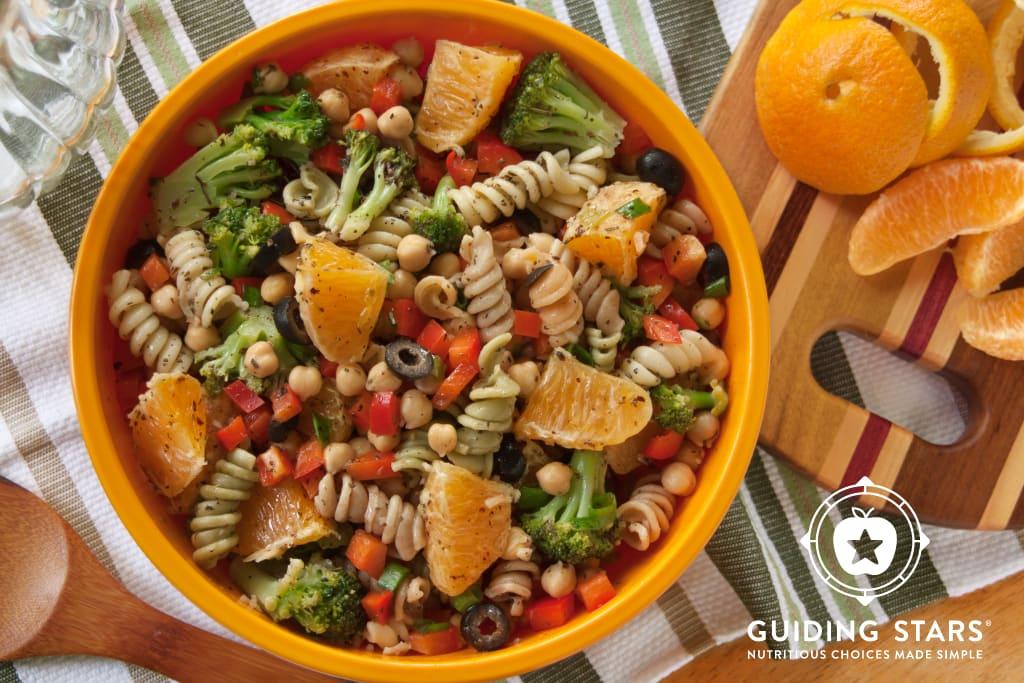 Chickpea Pasta Salad with Oranges