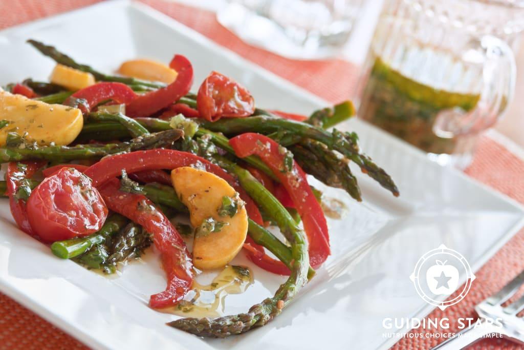 Grilled Veggie Salad with Dijon Vinaigrette