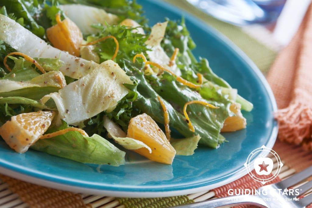 Endive & Escarole Salad with Mustard-Orange Vinaigrette
