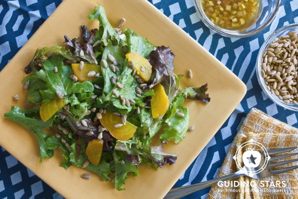 Golden Beet & Sunflower Salad