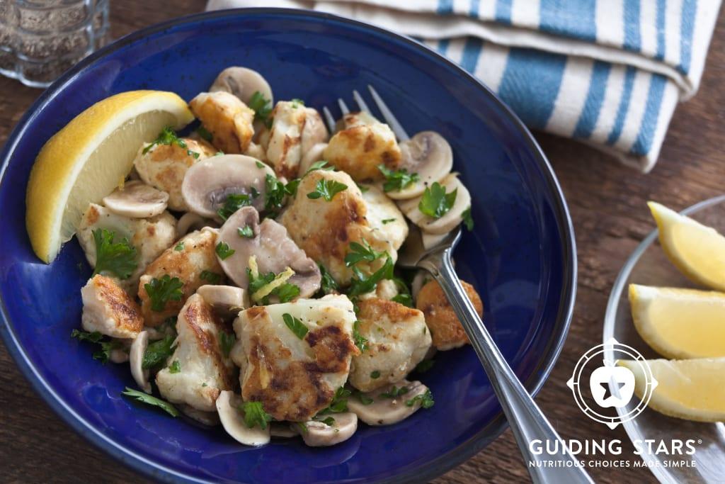 Marinated Mushroom & Pan-Fried Cauliflower Salad