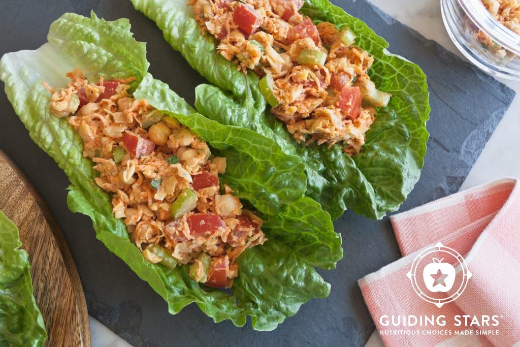 Garbanzo Salad Romaine Wraps