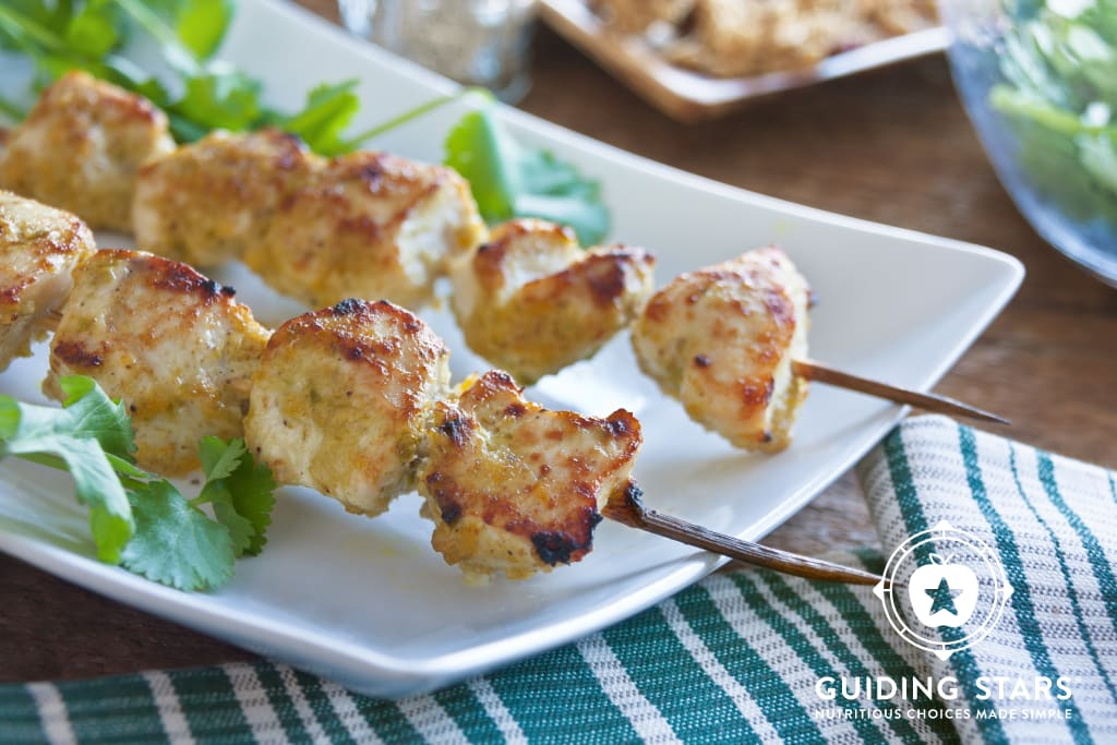 Chicken Kebabs with Asian Spice Paste