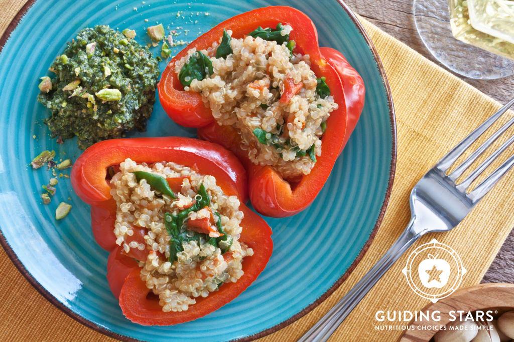 Quinoa Stuffed Peppers with Pesto