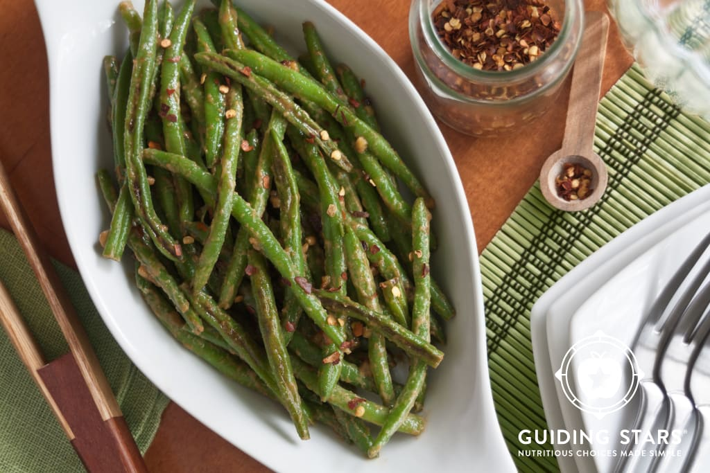 Spicy Peanut Green Beans