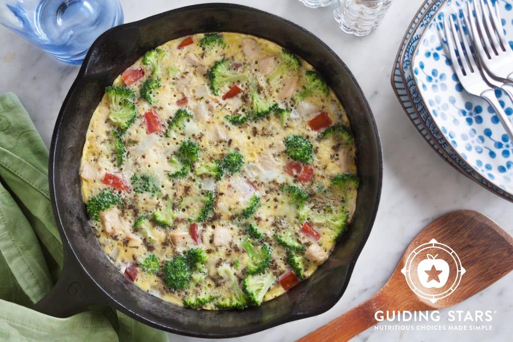Broccoli Chicken Frittata