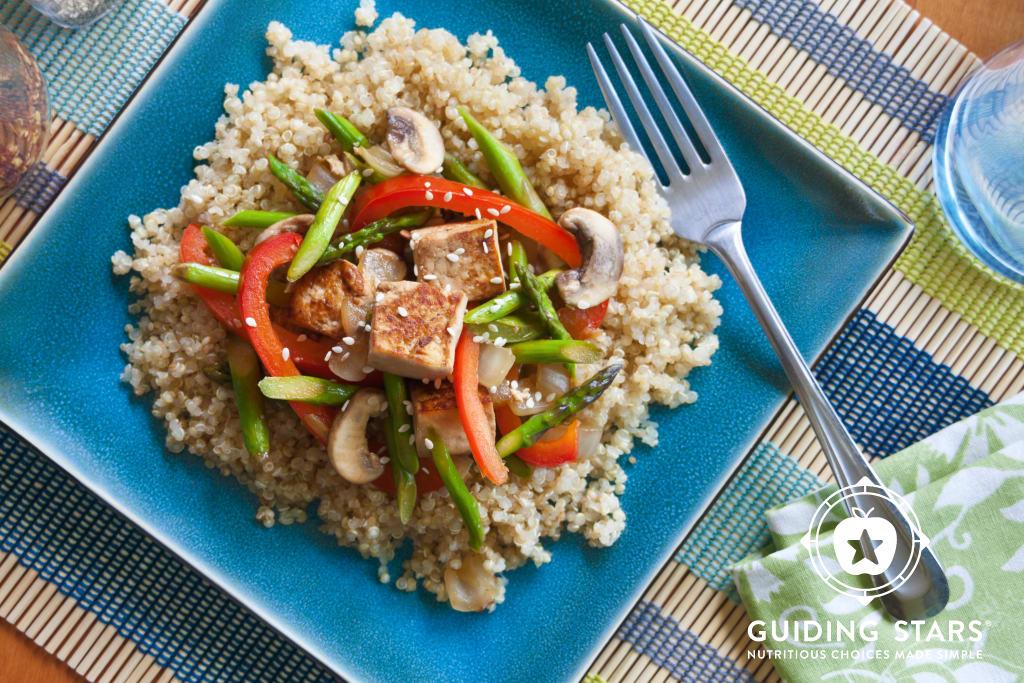 Tofu, Asparagus & Red Pepper Stir-fry