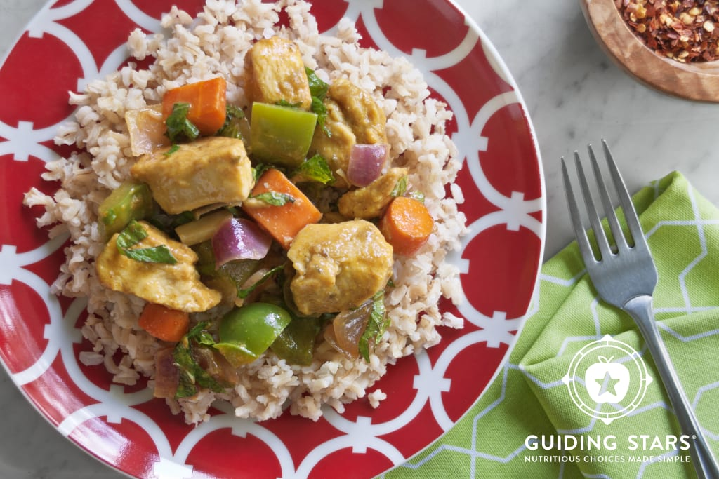 Seared Curried Chicken & Veggies
