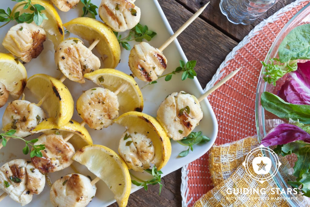 Lemon Scallop Kebabs