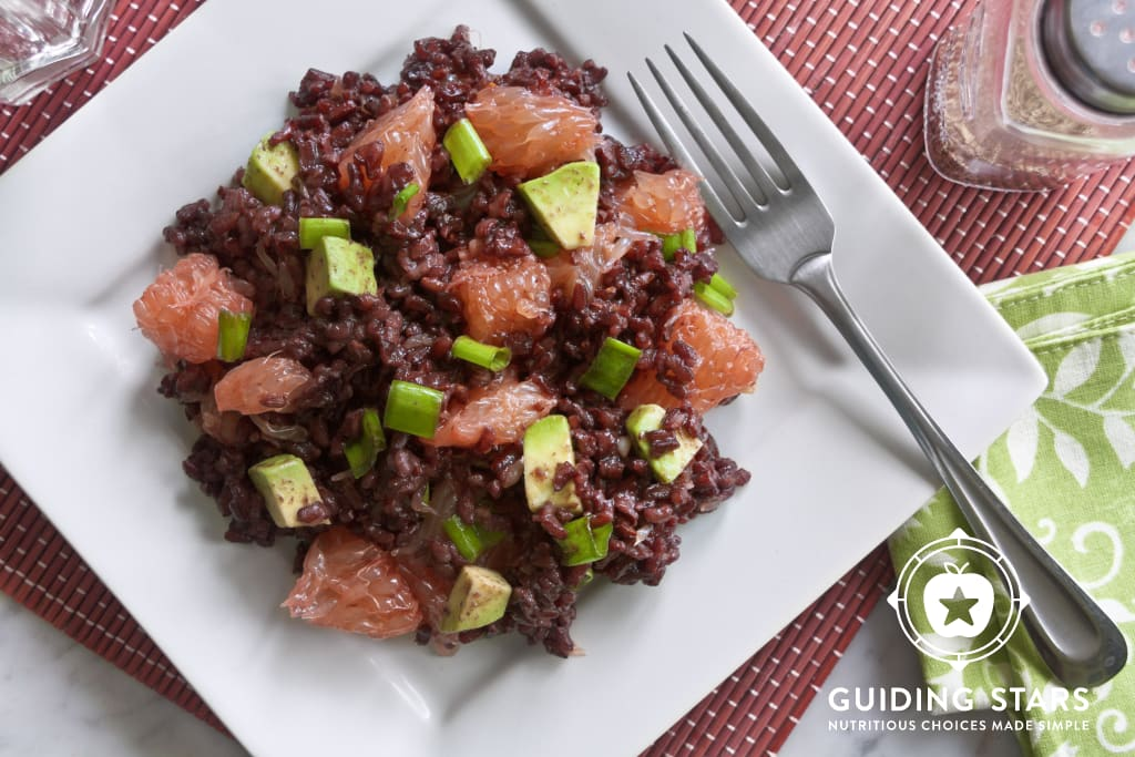 Black Rice Salad with Avocado & Grapefruit