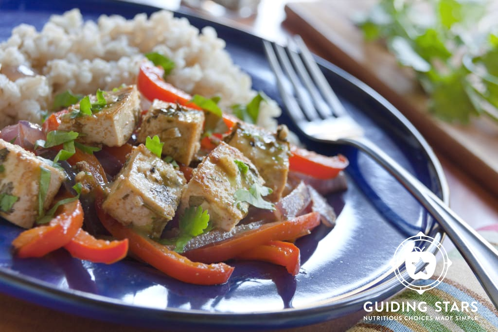 Citrus-Marinated Tofu with Onions & Peppers