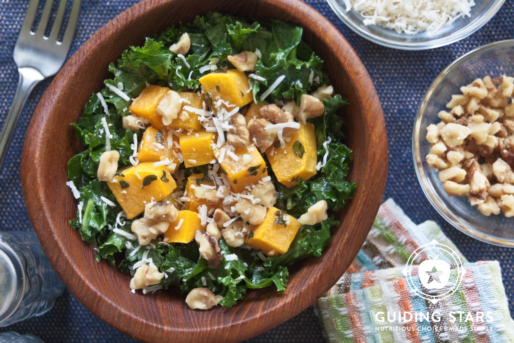Kale Salad with Roasted Winter Squash