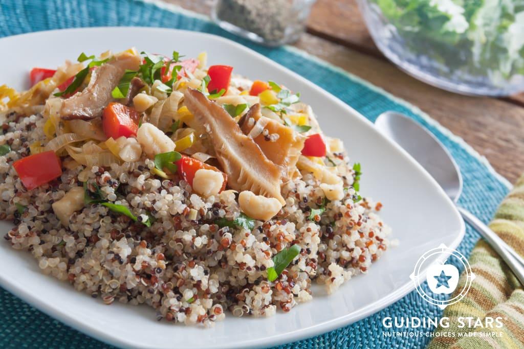 Quinoa with Leeks & Shiitake Mushrooms