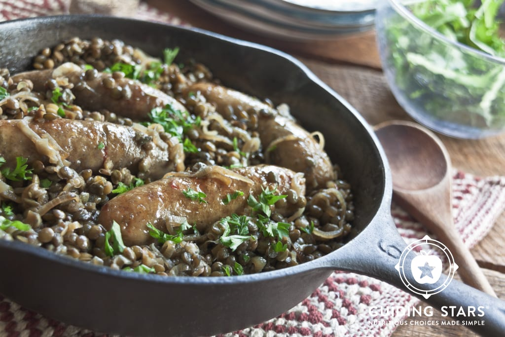 Chicken Sausage with Lentils