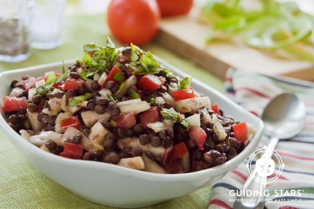 Lentil Salad with Apples