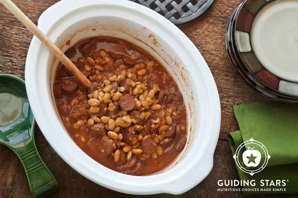 Slow Cooker Bean Hole Beans