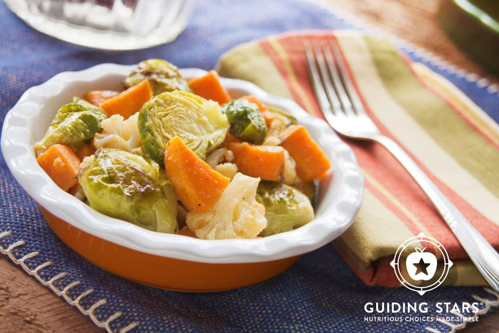 Roasted Vegetables with Miso Lime Dressing