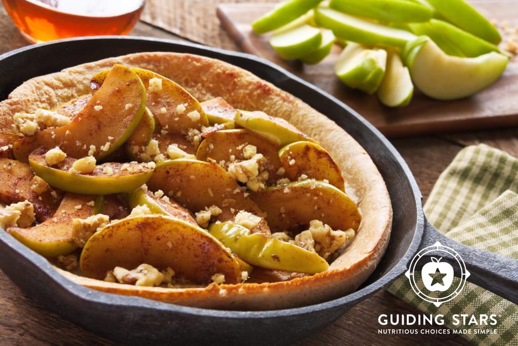 Whole Wheat Dutch Baby Pancake with Cinnamon Apples