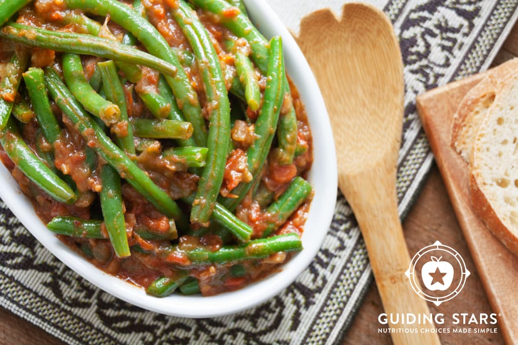 Green Beans in Spiced Tomato Sauce